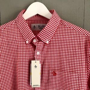 Penguin Red Button-Down Shirt